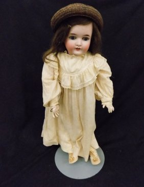 "Large 27"" Queen Louise Bisque Doll Composition Body"