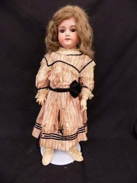 "24"" Armand Marseille Doll Bisque 390 Head Composition"