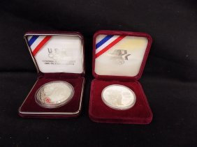2 Olympic Silver Coins 1988s And 1983 Los Angeles 2