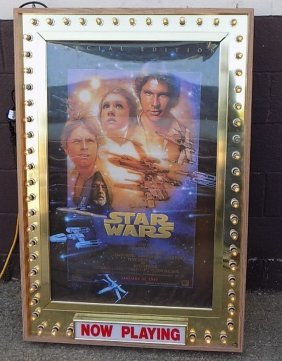 Star Wars Movie Marquee Lighted Dual Sided Display
