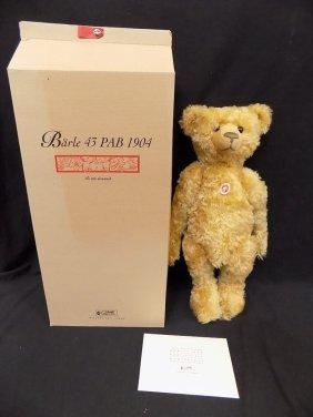2003 Steiff Barle Pab 1904 Replica Mohair Teddy Bear