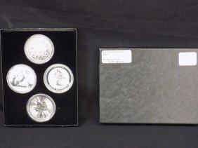 2015 World Silver Coin Set (4) China Panda, Canada
