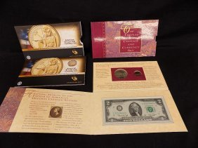 1993 The Thomas Jefferson Coinage And Currency Set +