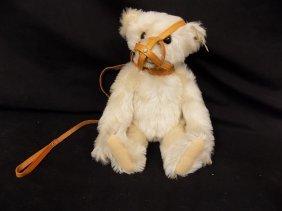 1990 Steiff Muzzle Bear 35cm 1908 Replica White Mohair