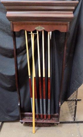 Brunswick Billiards Wall Rack Pool Cue Stick Holder,