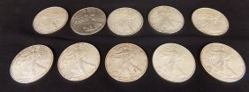 2012 Silver American Eagle Coins Half Roll 10 Coins