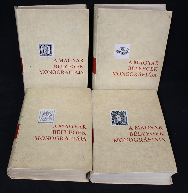 (4)Volume Hungarian Specialized Stamp Literature