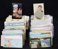 (800-1000) Postcards - U.S. & Foreign Mixed States
