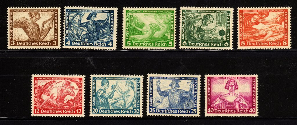 Germany Scott B49-B57 F-VF OG NH SCV.$2000+
