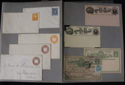 Latin America  19th c Postal Stationery Collection