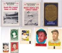Lot of 10 Vintage Mickey Mantle Cards Stamps and