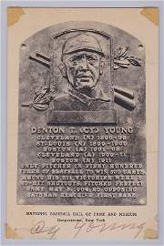 Cy Young Autographed Hall of Fame Postcard