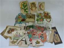 Collection of Diecut Valentine & Ephemera Scrapbook