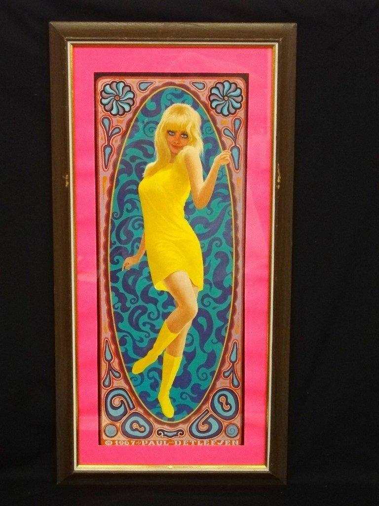 Paul Detlefsen Psychedelic Pop-Art Lithograph Framed