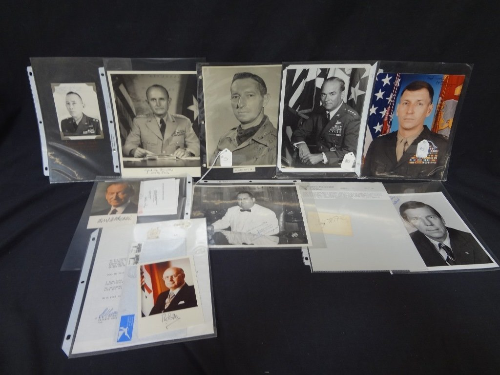 (10) Military and World Leader Autographed Photographs