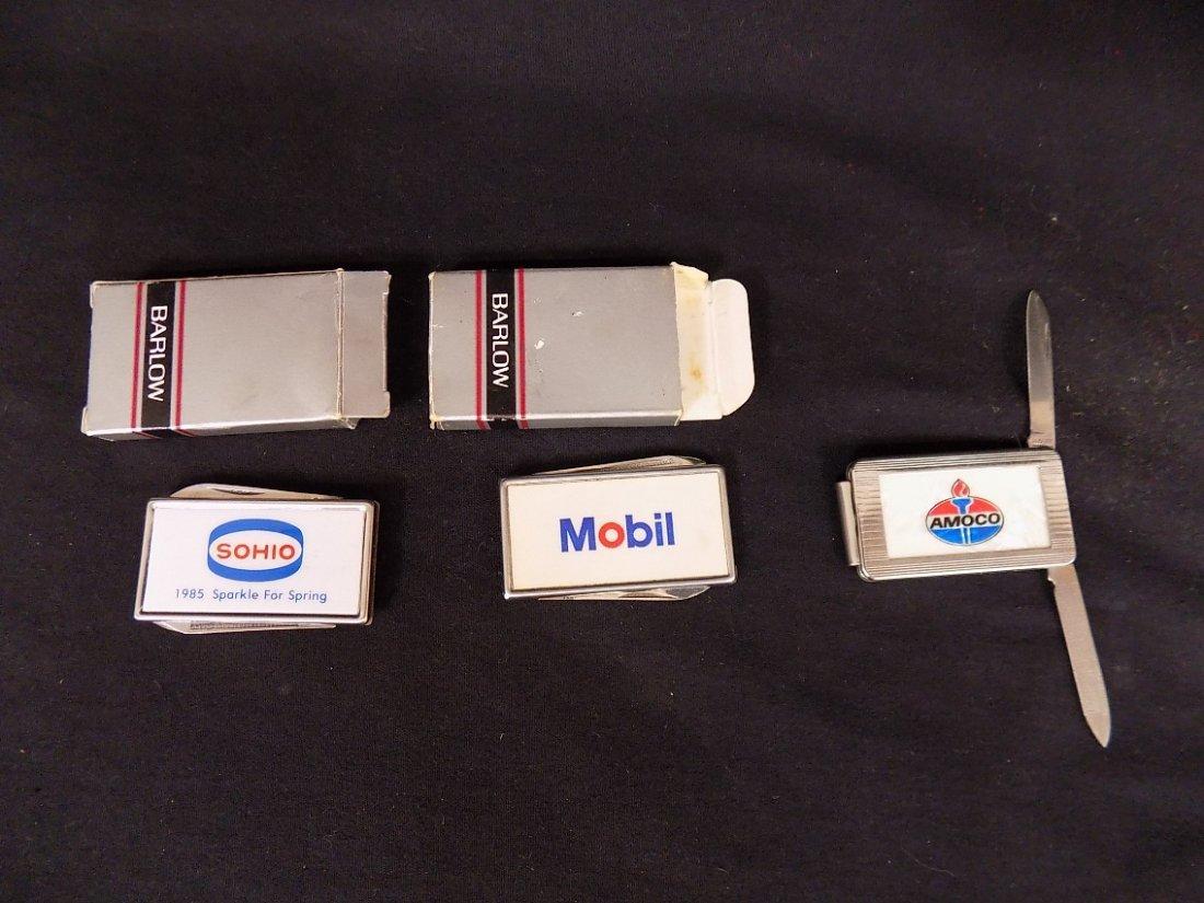 BARLOW/Anvil SOHIO, MOBIL, AMOCO money clip, knife &