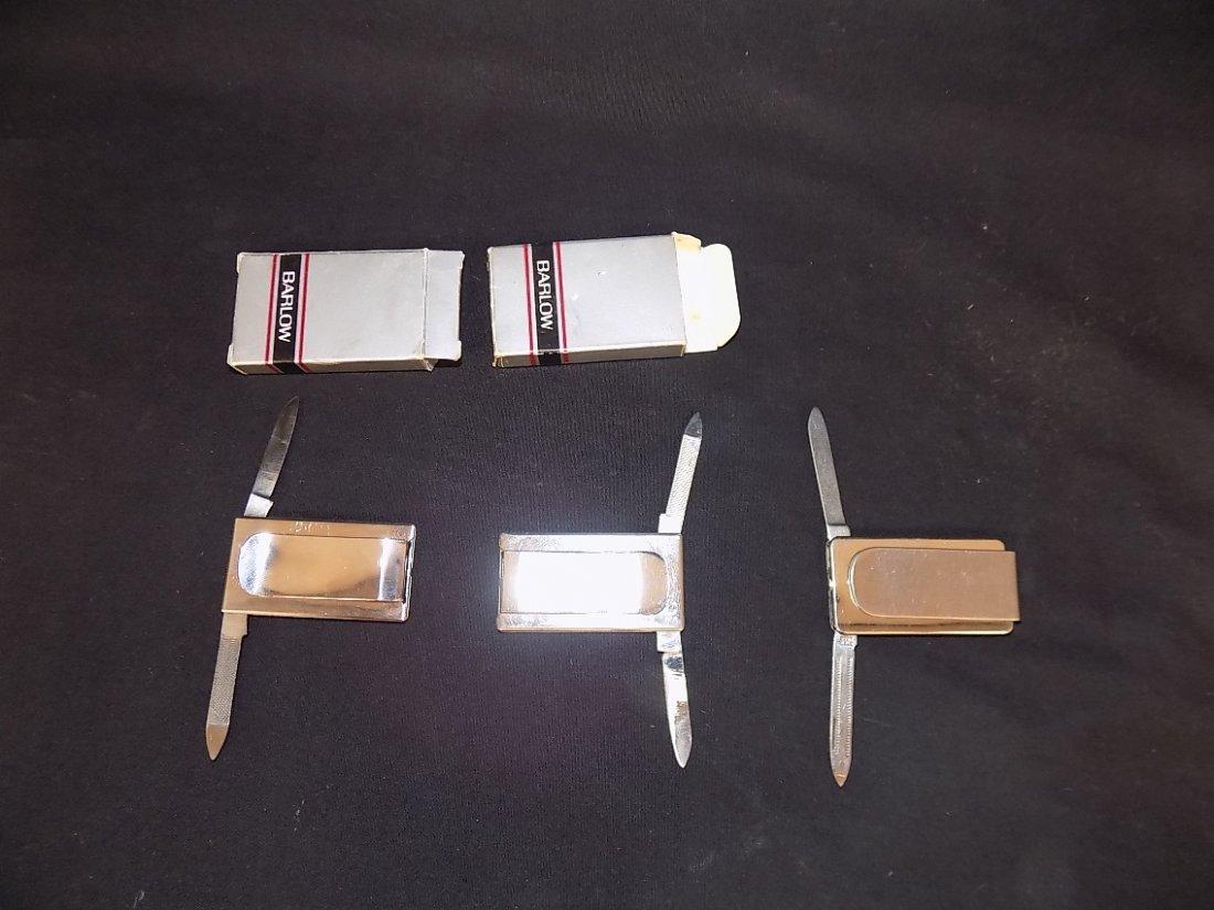 BARLOW/Anvil SOHIO, MOBIL, AMOCO money clip, knife & - 2
