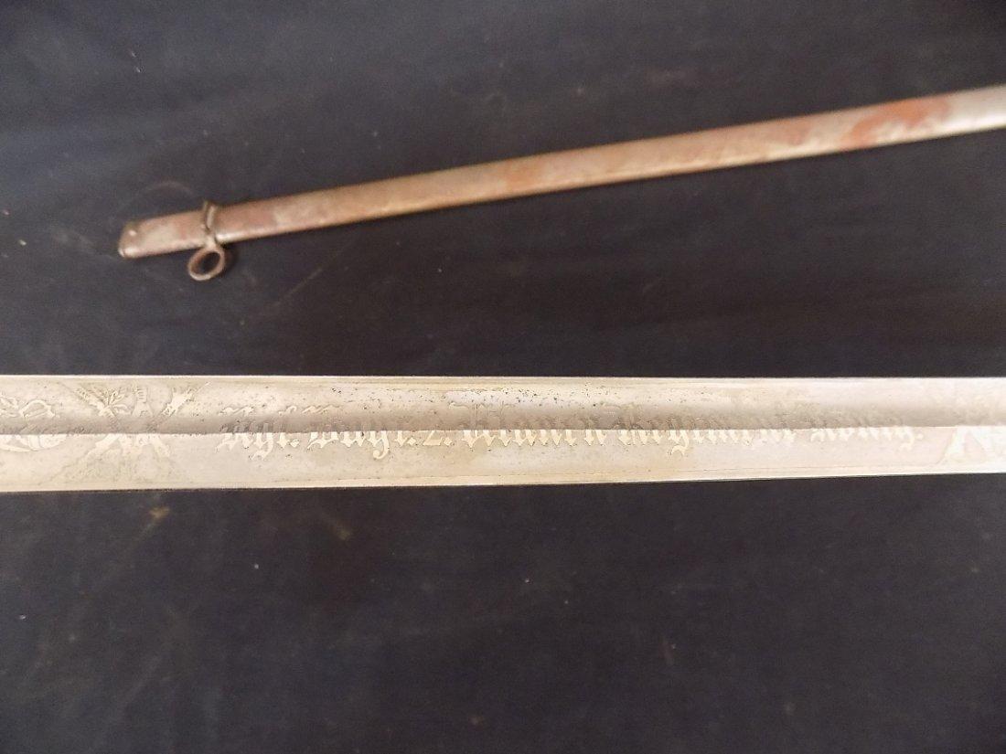 "33"" Bavarian Sword with Scabbard 'Bavarian Lion' - 5"