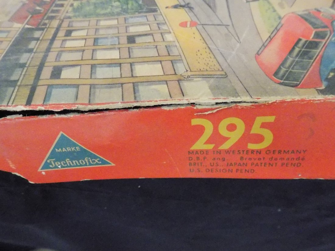 1950's Traffic Control 3 Car Tin Litho Game by - 3