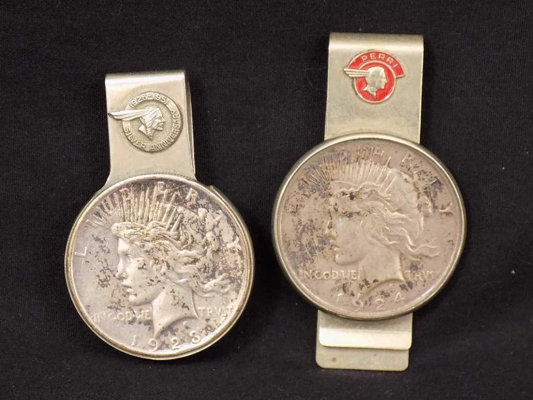 Pontiac 1923 1924 Peace Silver Dollar Money Clip