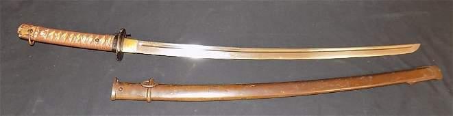 """Japanese World War 2 NCO Sword 28"""" w/Scabbard"""