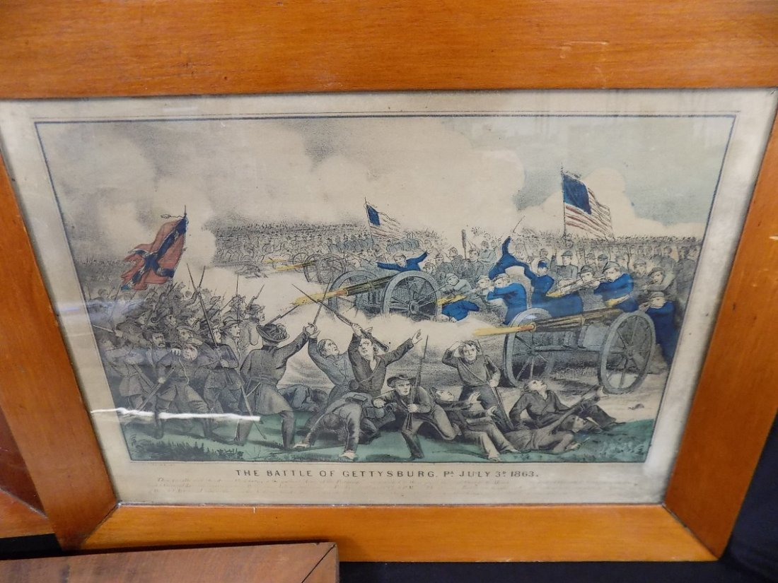 Early Currier & Ives Hand Colored Civil War Prints - 4