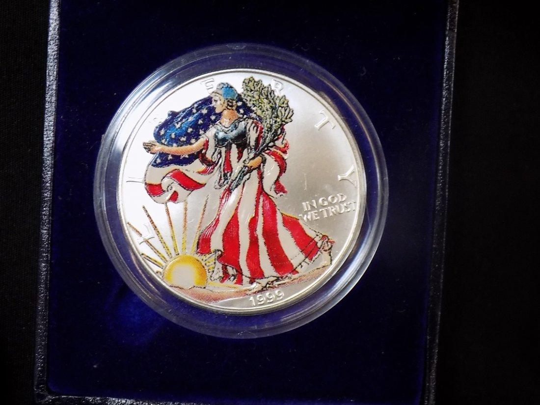 1999 Colorized American Eagle, 1991 Mt Rushmore Silver - 3