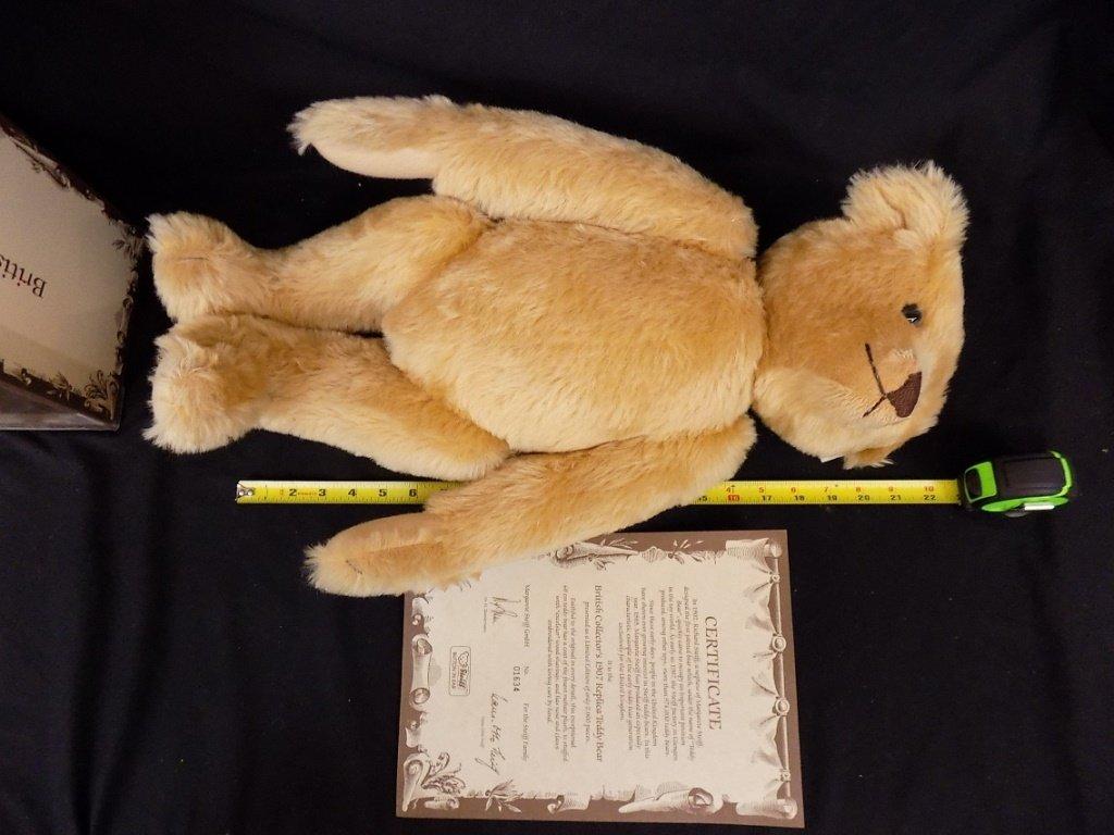 STEIFF BRITISH COLLECTOR'S 1907 REPLICA TEDDY BEAR LE - 2