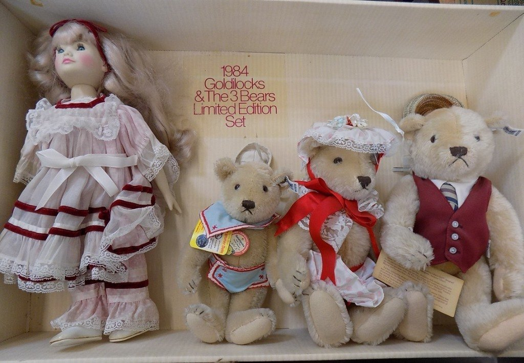 Steiff Limited Edition Goldilocks The 3 Bears 1984 - 5