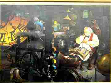 "DEAN MORRISSEY (American 20th Century) Oil  ""Perpetual"