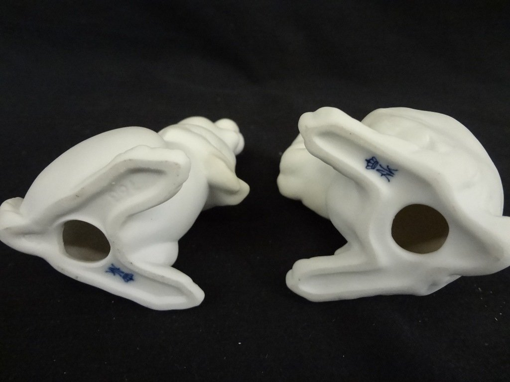 (2) Bunny Kaiser West Germany Bisque Porcelain - 2