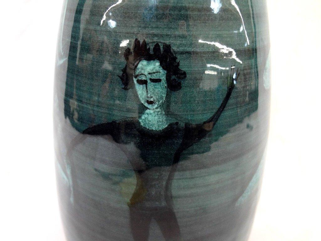 Polia Pillin Art Pttery Blue Vase - 2