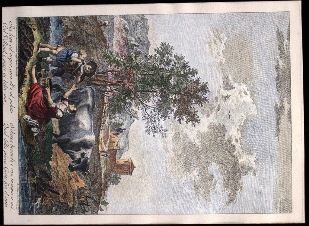 Francesco Zuccarelli Italy 1702-1788 Color Engraving