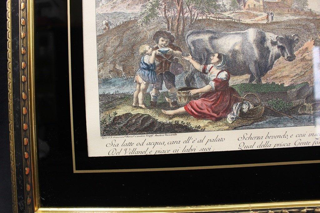 Francesco Zuccarelli Italy 1702-1788 Color Engraving - 3