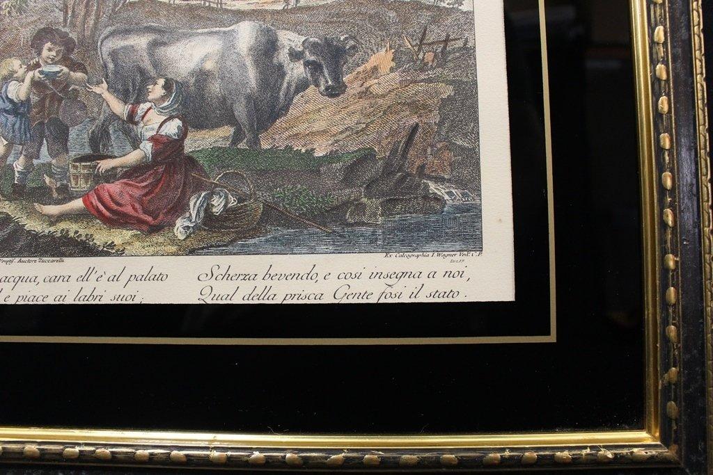 Francesco Zuccarelli Italy 1702-1788 Color Engraving - 4