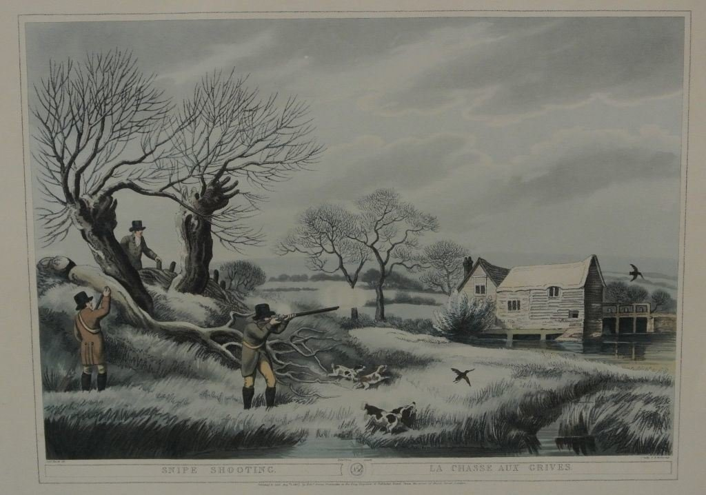 1807 Sam Howitt Snipe Hunt Lithograph London