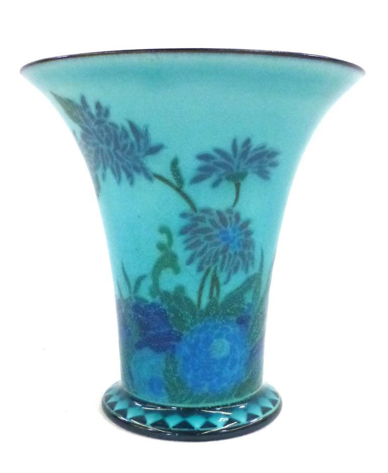 Rookwood Porcelain Arthur Conant Blue Painted Vase 1917