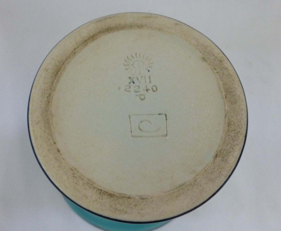 Rookwood Porcelain Arthur Conant Blue Painted Vase 1917 - 3