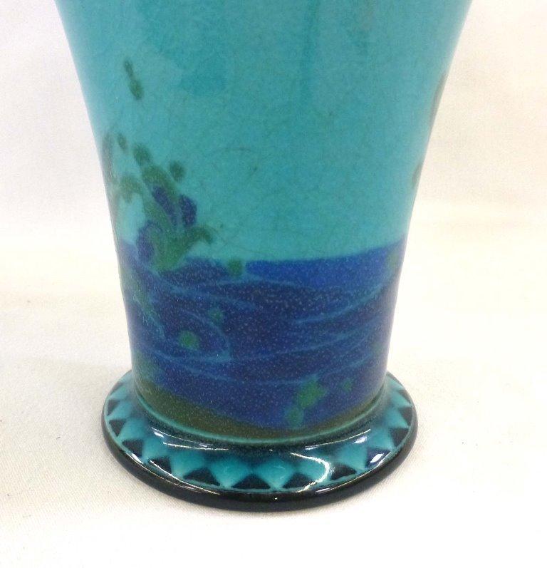 Rookwood Porcelain Arthur Conant Blue Painted Vase 1917 - 5