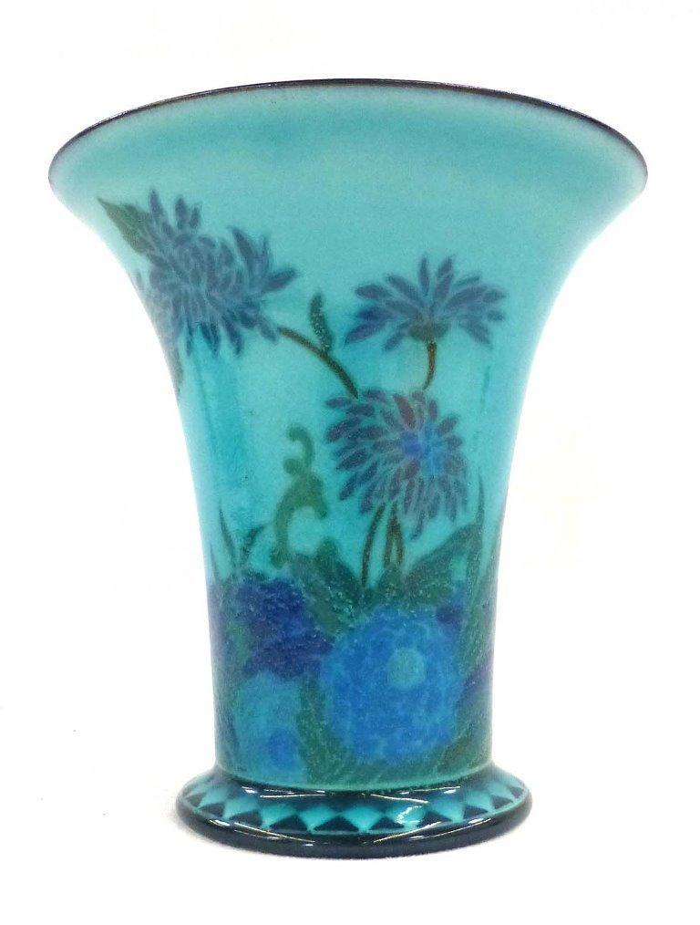 Rookwood Porcelain Arthur Conant Blue Painted Vase 1917 - 6