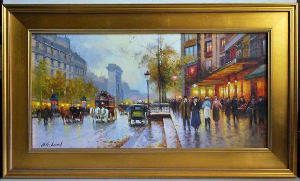 Yuri Kuzmin, Russian b 1949, Oil, Paris Bonne-Nouvelle