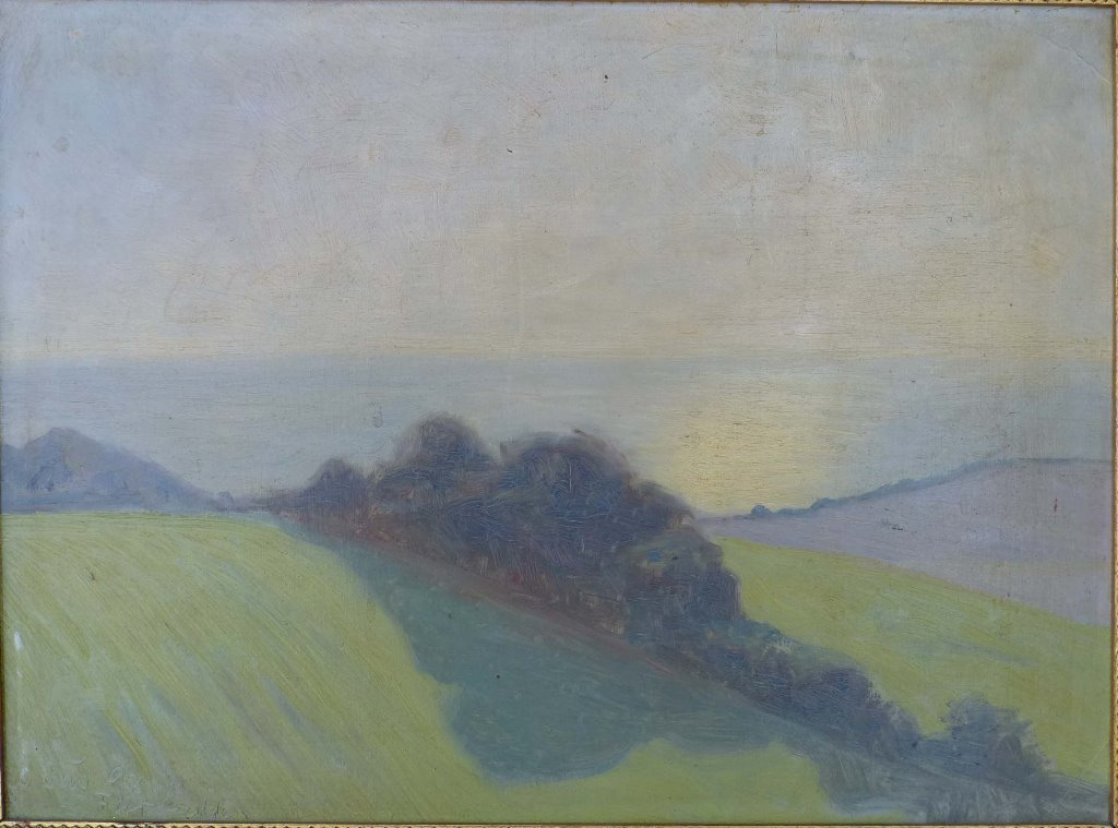 Ole Due Denmark(1875-1925)  Oil on Board