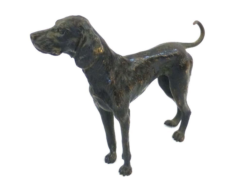 Early English Pointer Dog Sculpture - 2