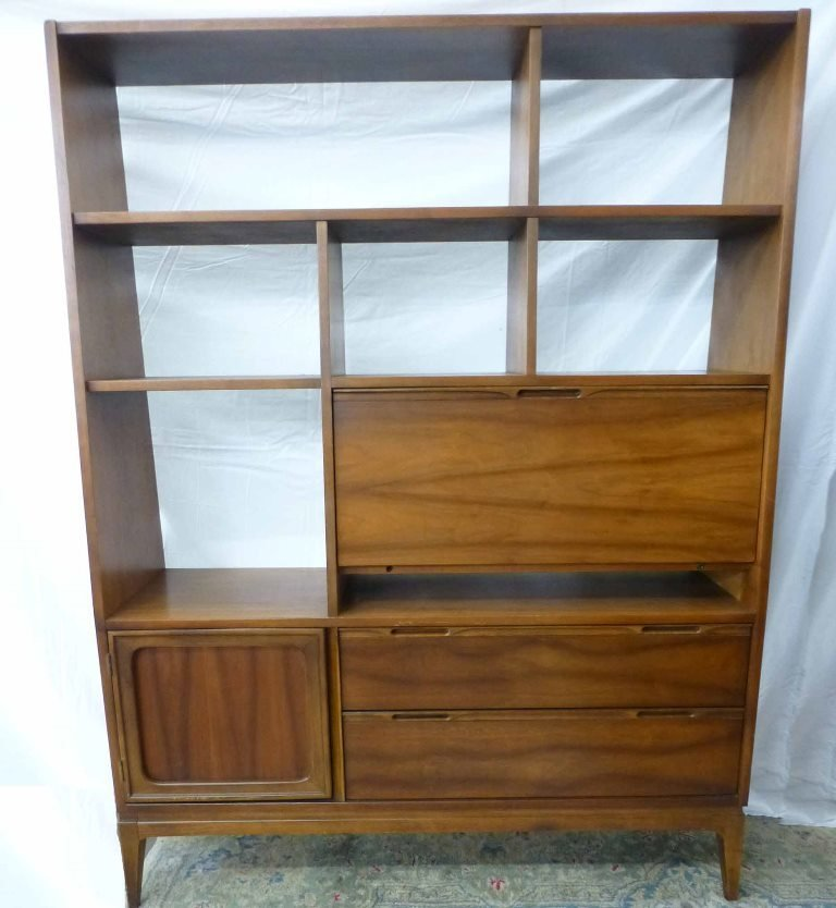 Danish Modern Book Shelf w Tilt Desk