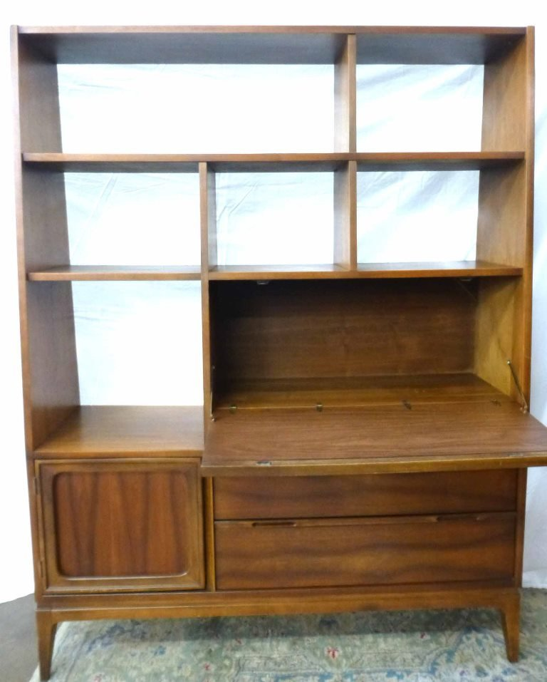 Danish Modern Book Shelf w Tilt Desk - 2