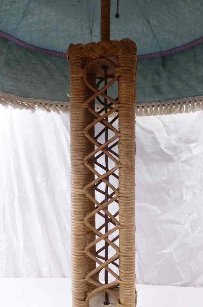 EIFFEL TOWER WICKER FLOOR LAMP c. 1910 - 5