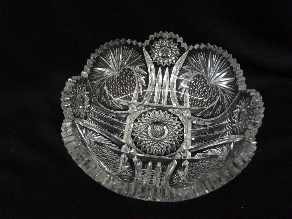 (3) American Brilliant Cut Glass Bowls - 2