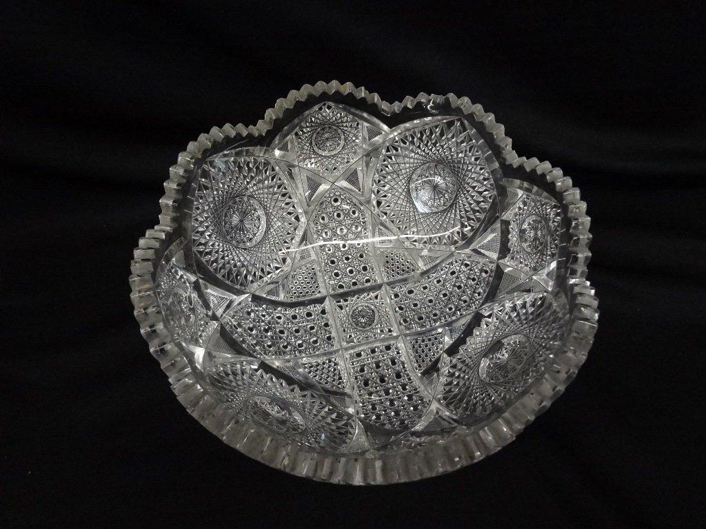 (3) American Brilliant Cut Glass Bowls - 3