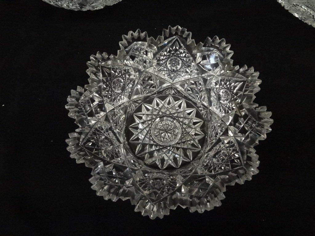 (3) American Brilliant Cut Glass Bowls - 4