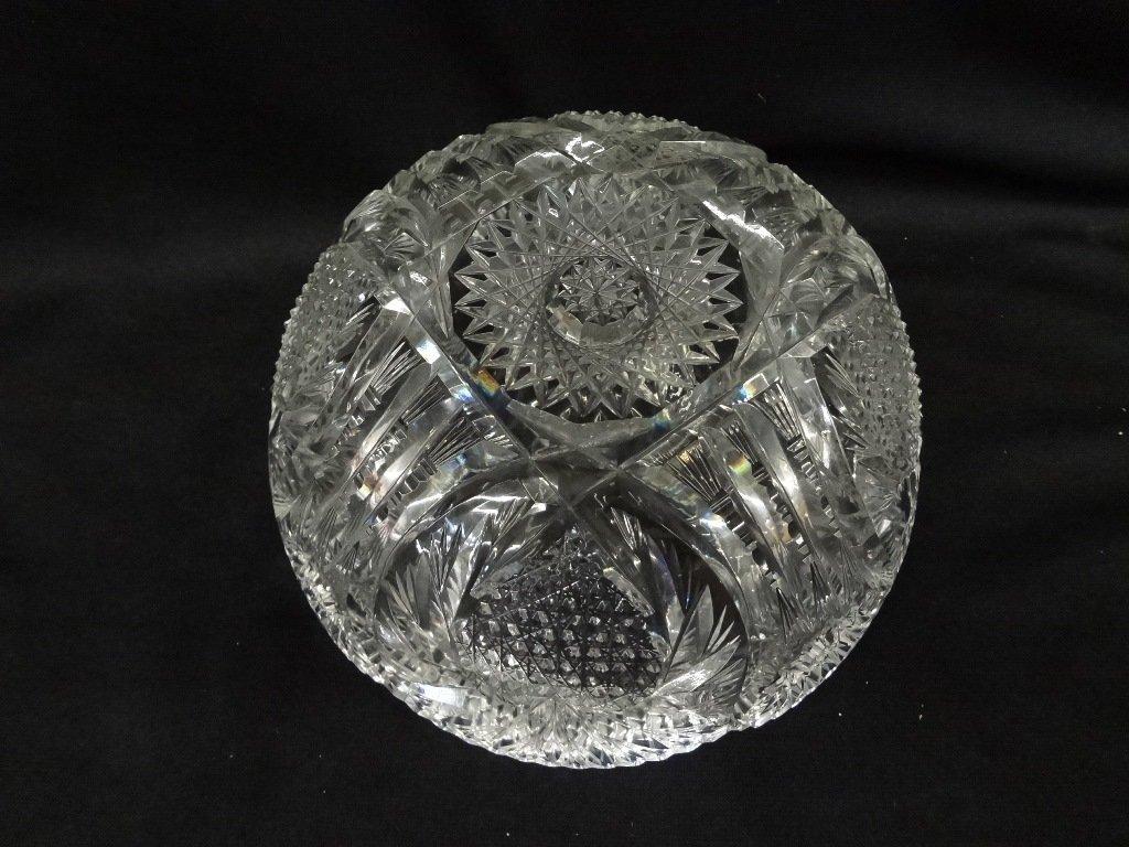 (3) American Brilliant Cut Glass Bowls - 5
